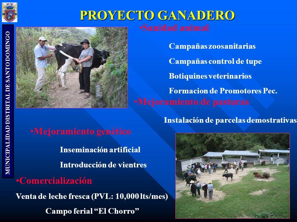 PROYECTO GANADERO Sanidad animal Campañas zoosanitarias