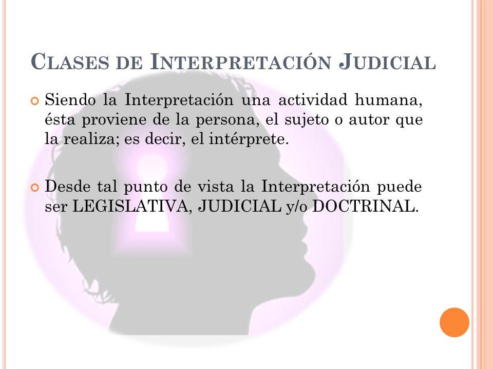 Clases de Interpretación Judicial