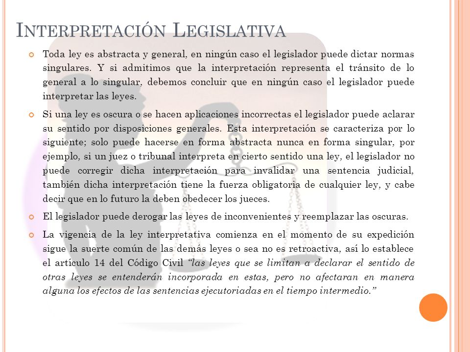 Interpretación Legislativa