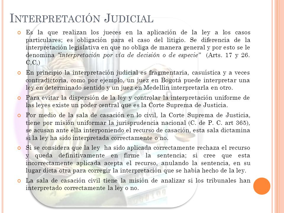 Interpretación Judicial