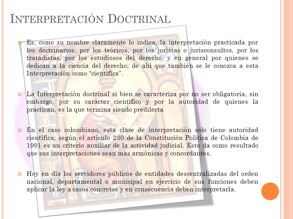 Interpretación Doctrinal