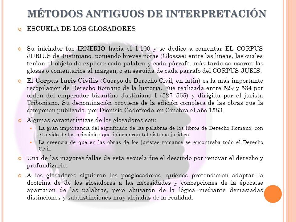 MÉTODOS ANTIGUOS DE INTERPRETACIÓN