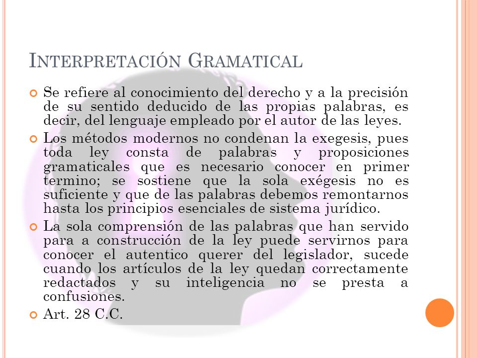 Interpretación Gramatical