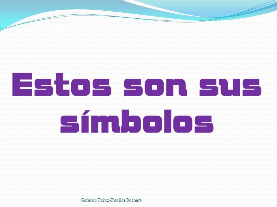 Estos son sus símbolos Gerardo Pérez-Puelles Bethart
