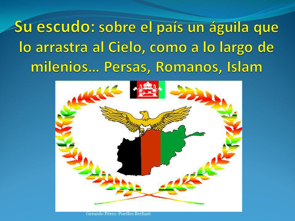 Su escudo: sobre el país un águila que lo arrastra al Cielo, como a lo largo de milenios… Persas, Romanos, Islam