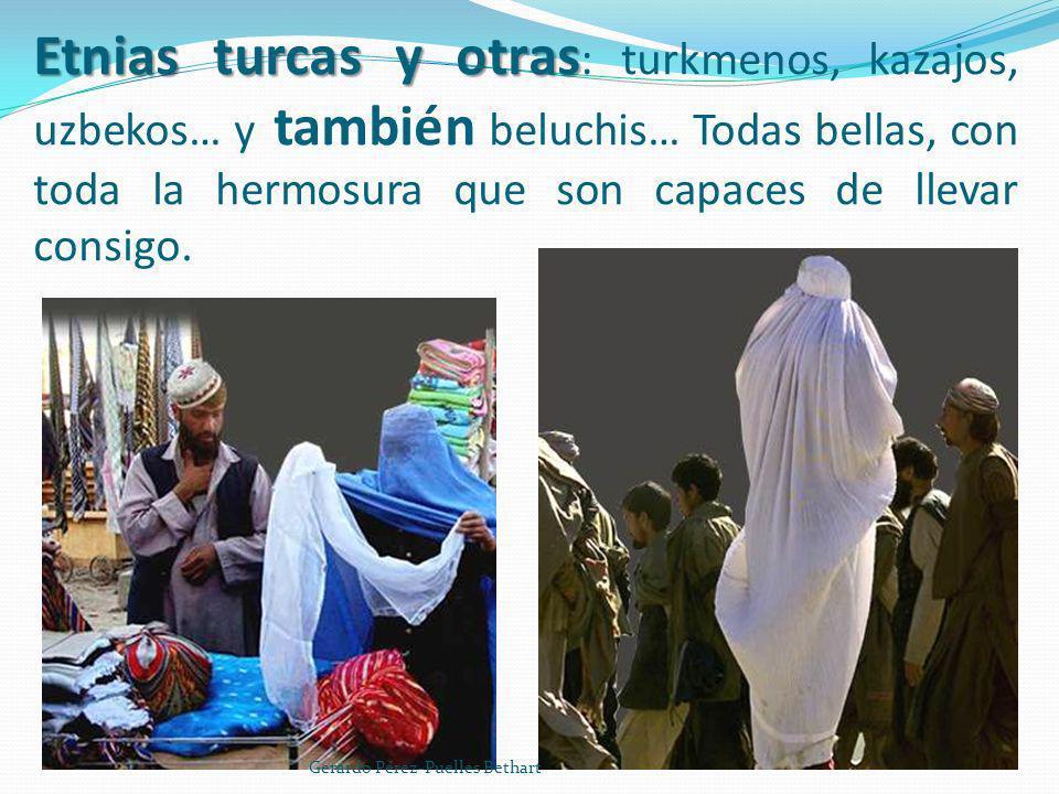 Etnias turcas y otras: turkmenos, kazajos, uzbekos… y también beluchis… Todas bellas, con toda la hermosura que son capaces de llevar consigo.