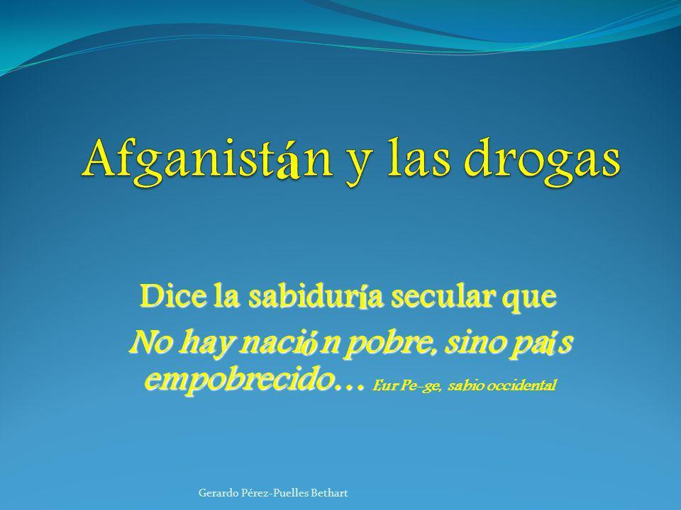 Afganistán y las drogas