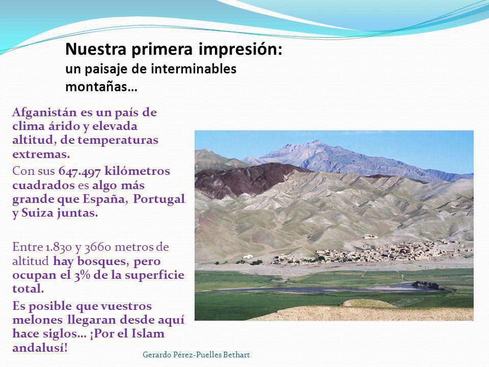 Nuestra primera impresión: un paisaje de interminables montañas…