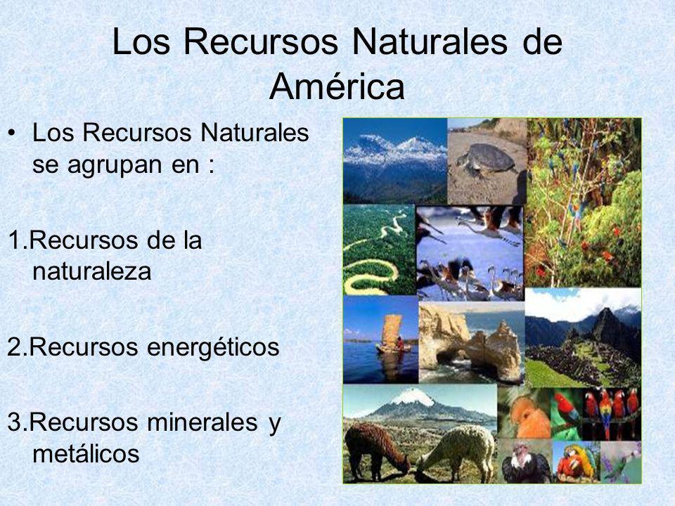 Los Recursos Naturales de América