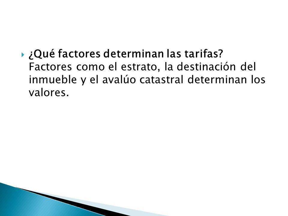 ¿Qué factores determinan las tarifas