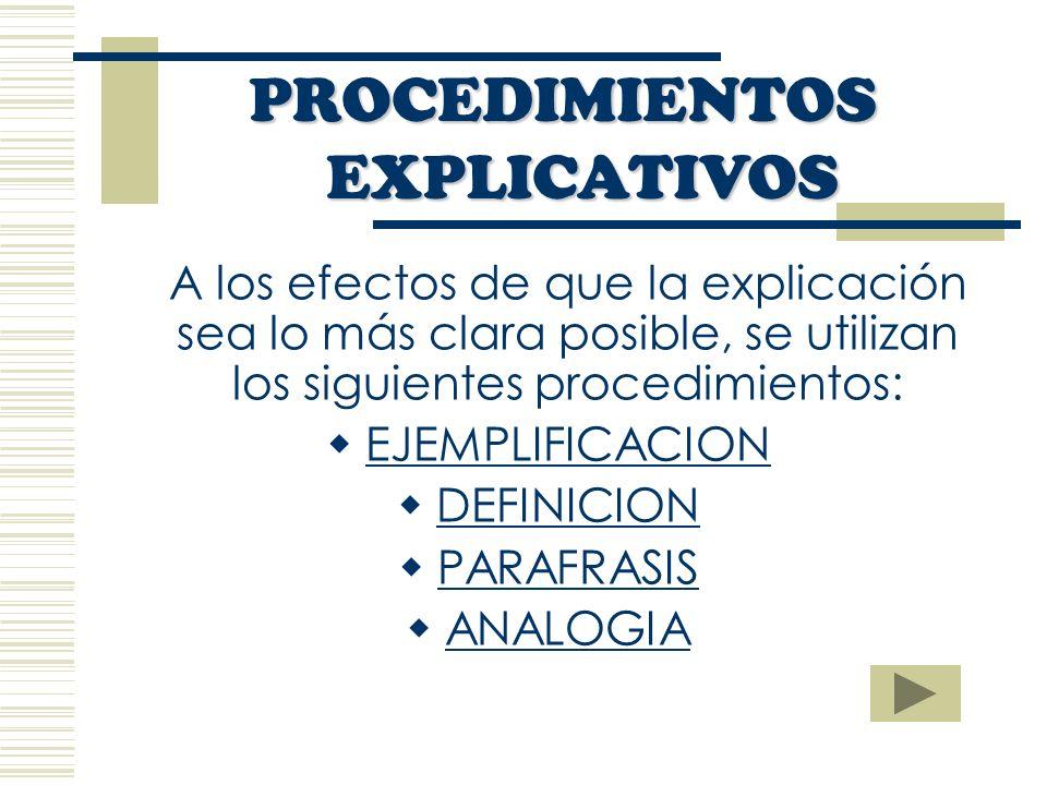 PROCEDIMIENTOS EXPLICATIVOS