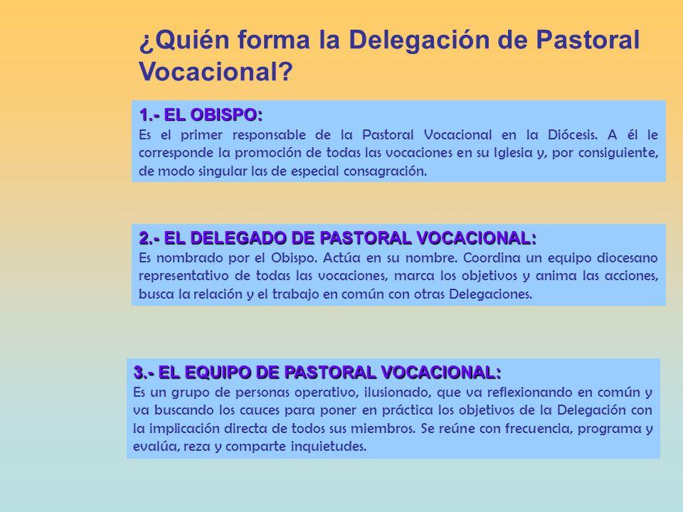 ¿Quién forma la Delegación de Pastoral Vocacional