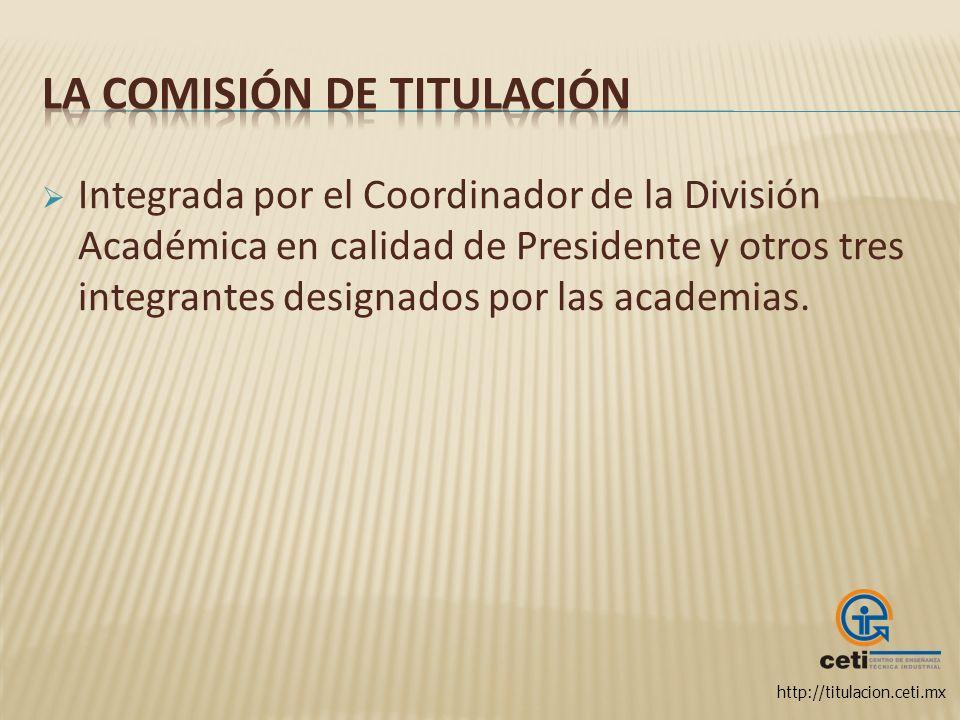 La Comisión de Titulación