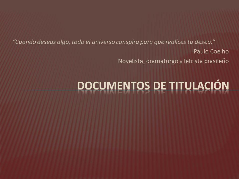 Documentos de titulación