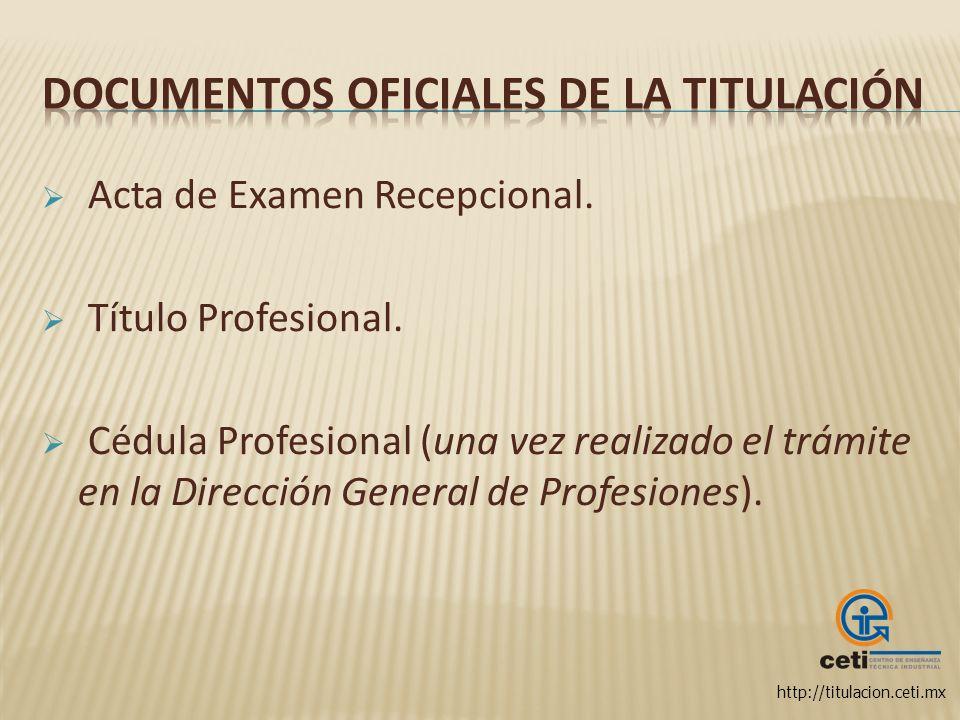 Documentos oficiales de la Titulación