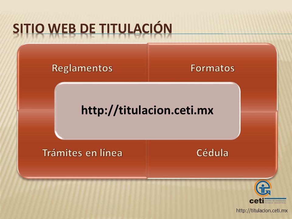 Sitio web de titulación