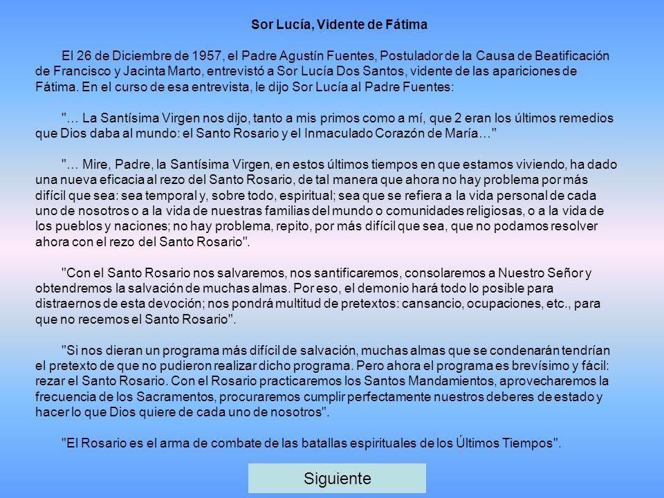Sor Lucía, Vidente de Fátima