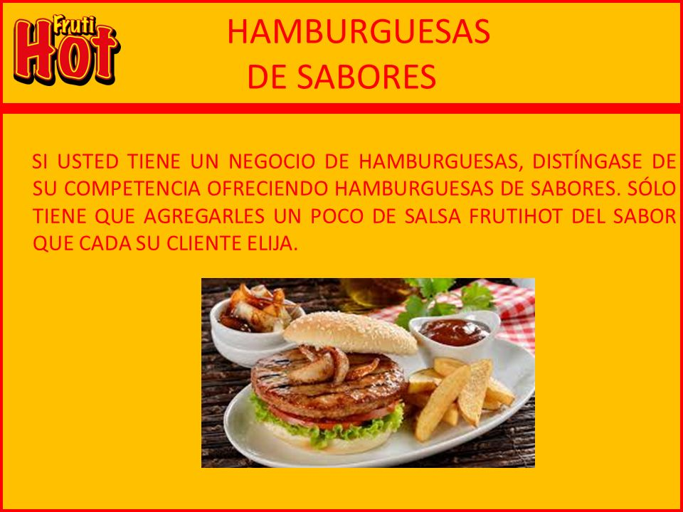HAMBURGUESAS DE SABORES