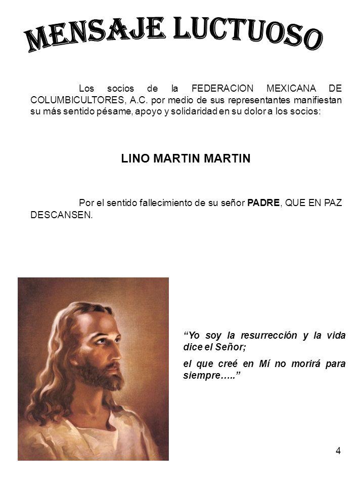 MENSAJE LUCTUOSO LINO MARTIN MARTIN