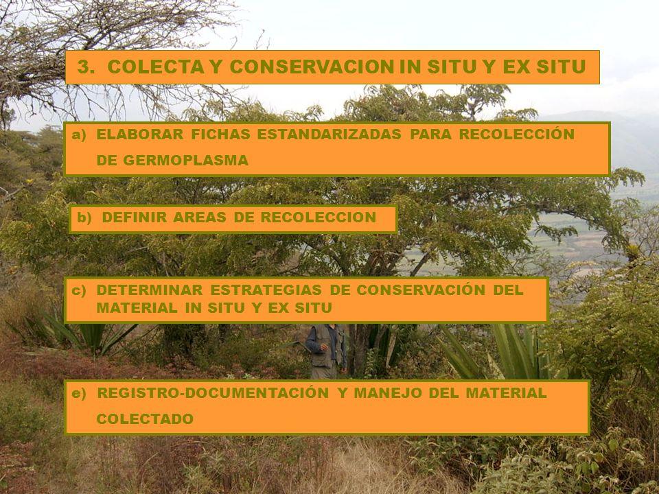 3. COLECTA Y CONSERVACION IN SITU Y EX SITU