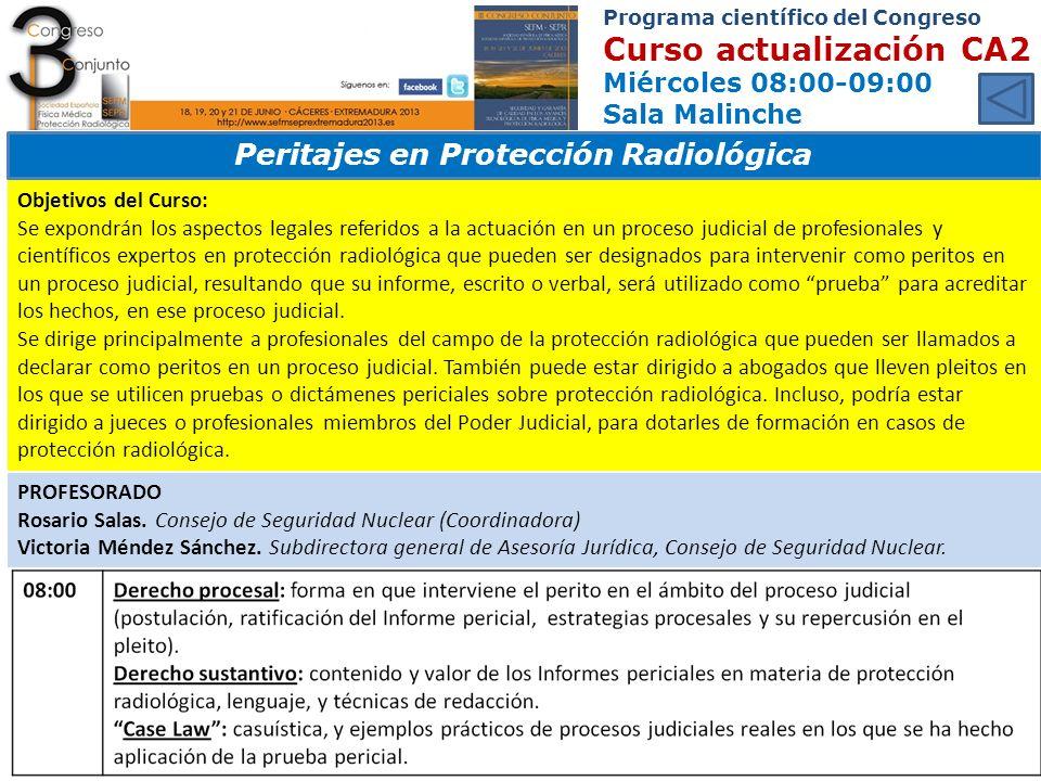 Peritajes en Protección Radiológica