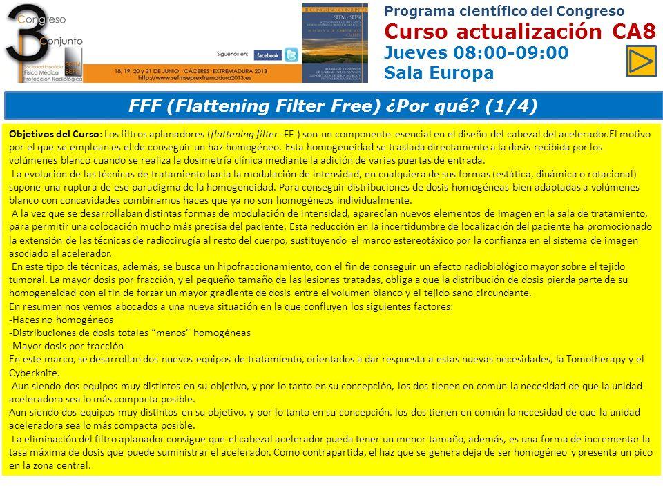 FFF (Flattening Filter Free) ¿Por qué (1/4)