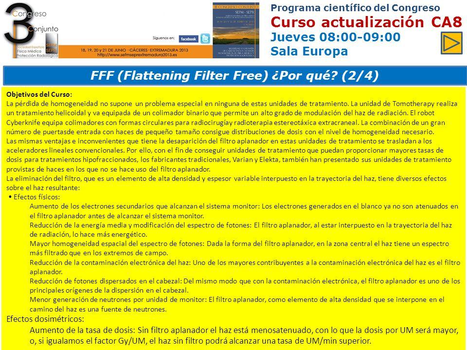 FFF (Flattening Filter Free) ¿Por qué (2/4)