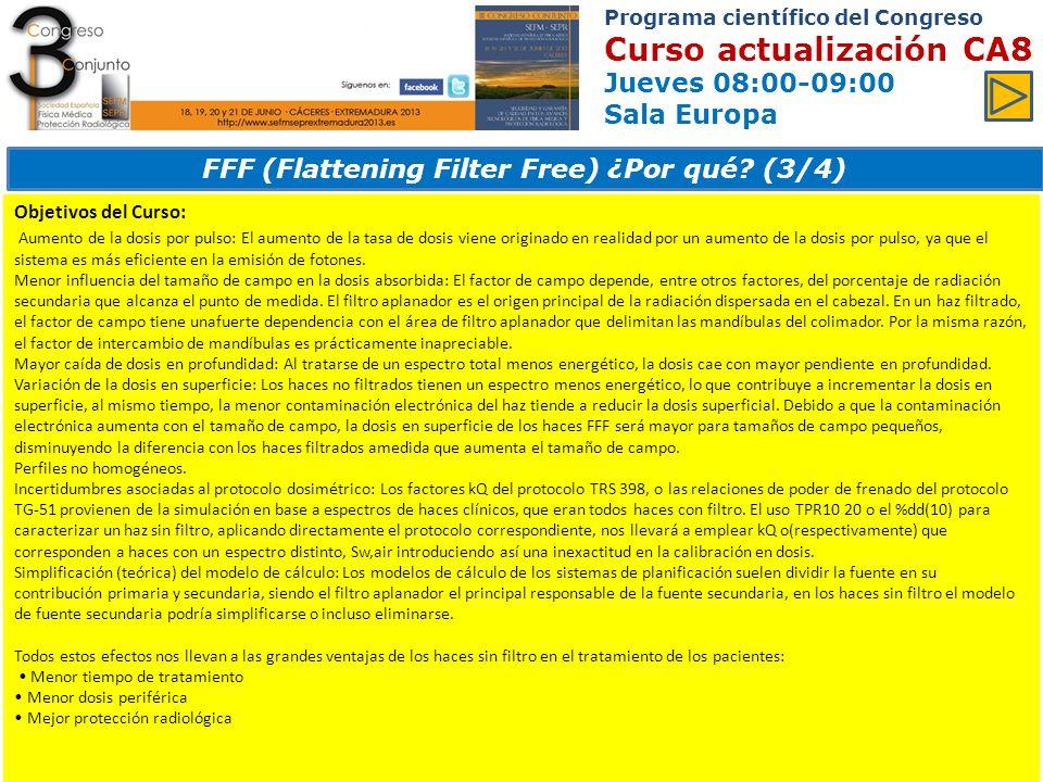 FFF (Flattening Filter Free) ¿Por qué (3/4)
