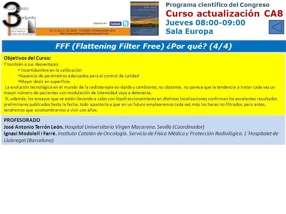 FFF (Flattening Filter Free) ¿Por qué (4/4)