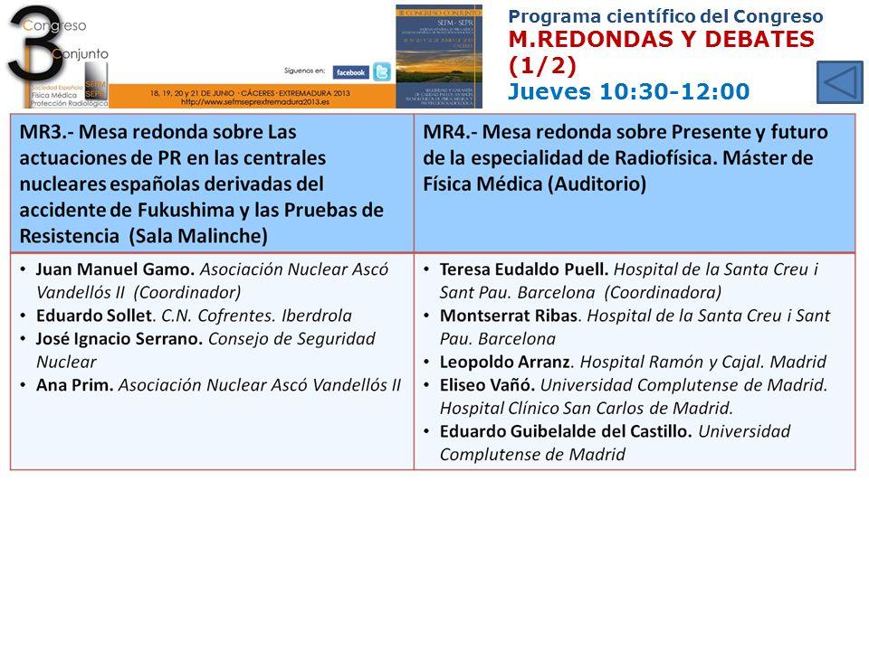 Programa científico del Congreso M