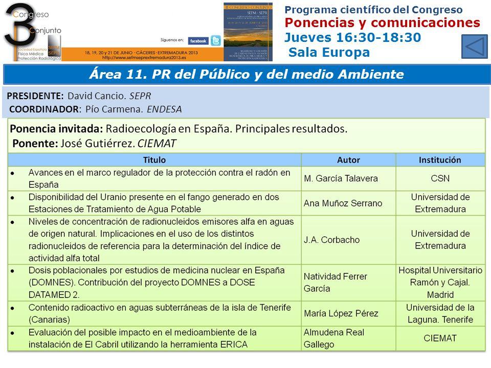 Área 11. PR del Público y del medio Ambiente