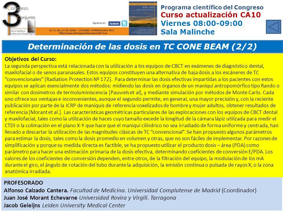 Determinación de las dosis en TC CONE BEAM (2/2)
