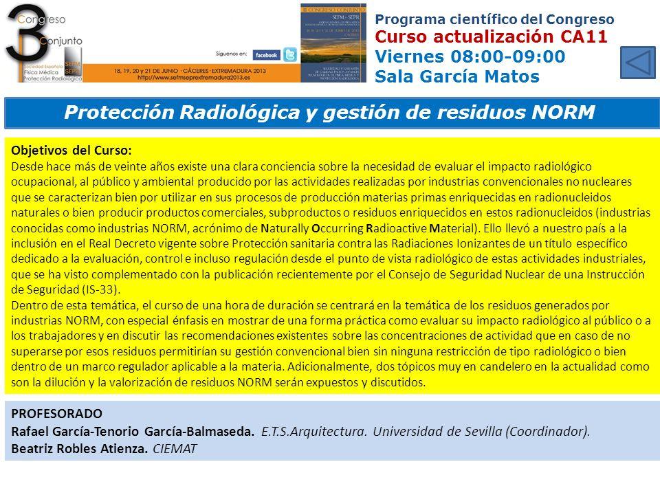 Protección Radiológica y gestión de residuos NORM