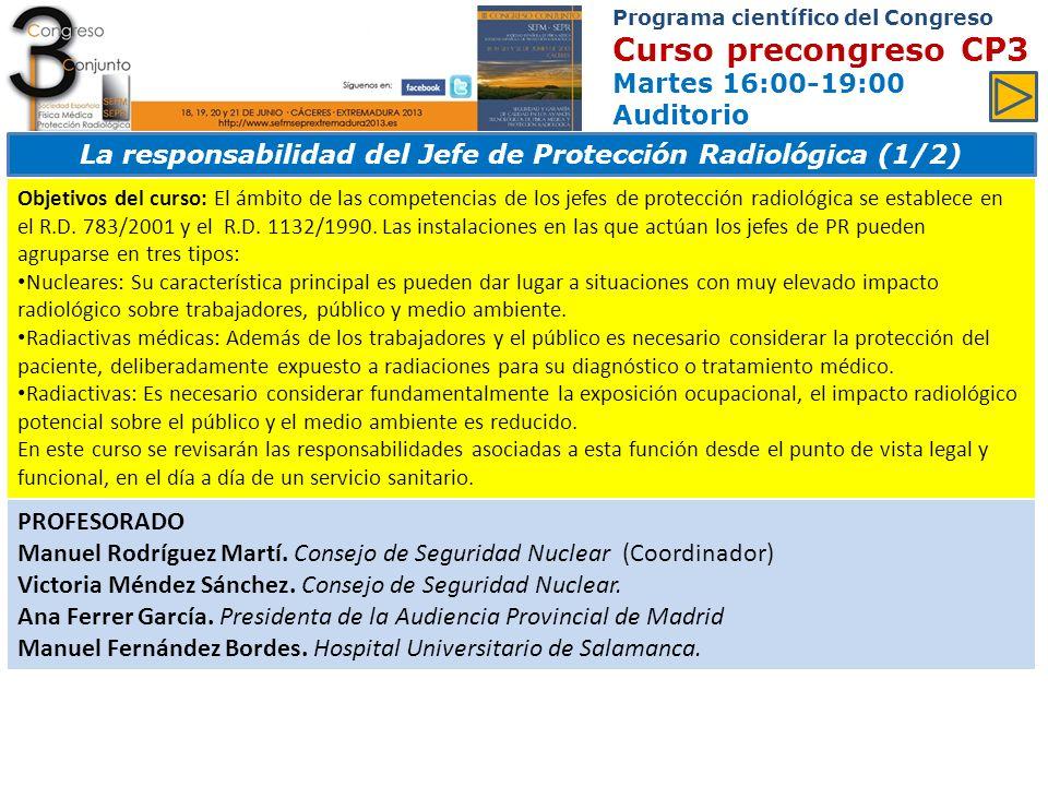 La responsabilidad del Jefe de Protección Radiológica (1/2)
