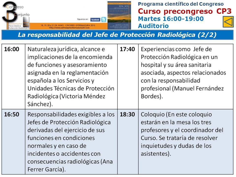 La responsabilidad del Jefe de Protección Radiológica (2/2)