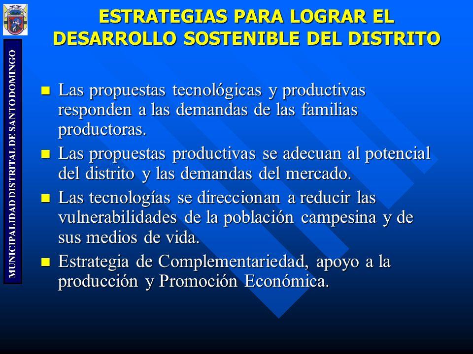ESTRATEGIAS PARA LOGRAR EL DESARROLLO SOSTENIBLE DEL DISTRITO