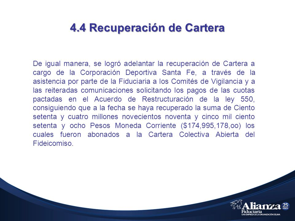 4.4 Recuperación de Cartera