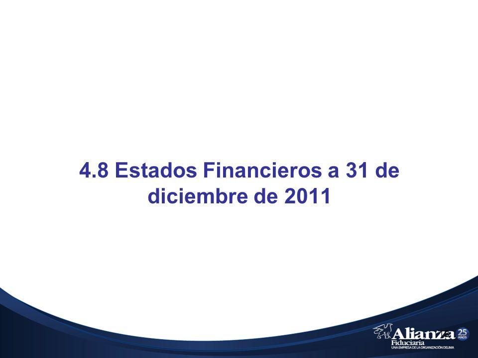 4.8 Estados Financieros a 31 de diciembre de 2011