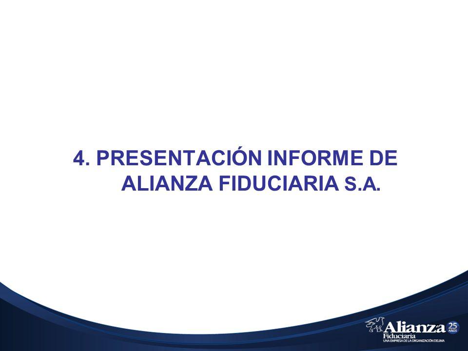 4. PRESENTACIÓN INFORME DE ALIANZA FIDUCIARIA S.A.