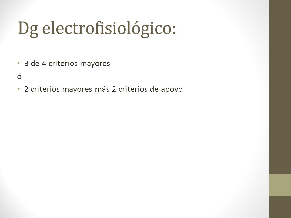 Dg electrofisiológico: