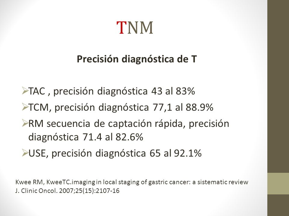 Precisión diagnóstica de T