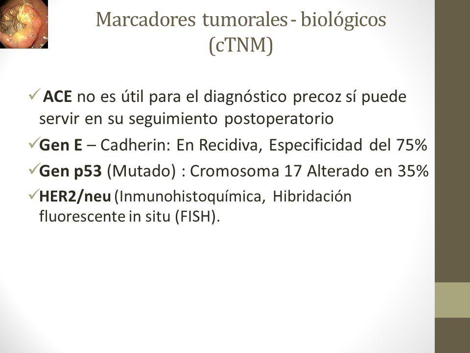 Marcadores tumorales - biológicos (cTNM)