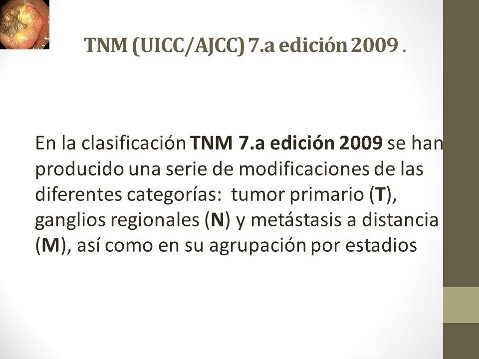 TNM (UICC/AJCC) 7.a edición 2009 .