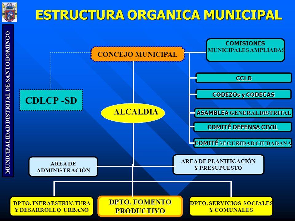 ESTRUCTURA ORGANICA MUNICIPAL