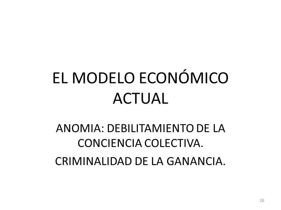 EL MODELO ECONÓMICO ACTUAL