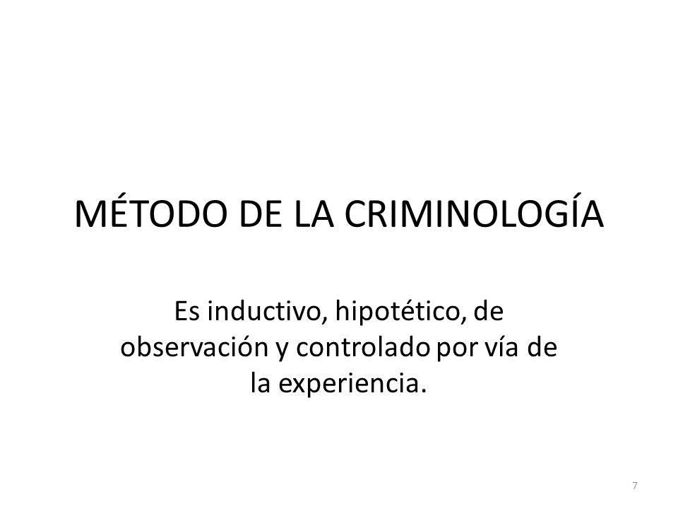 MÉTODO DE LA CRIMINOLOGÍA