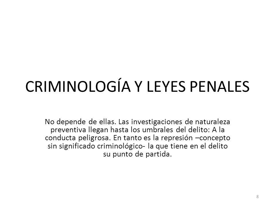 CRIMINOLOGÍA Y LEYES PENALES