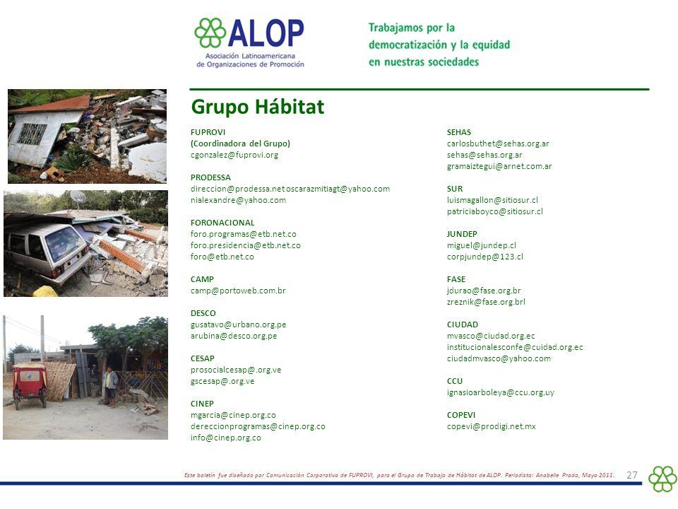 foto Grupo Hábitat FUPROVI (Coordinadora del Grupo)