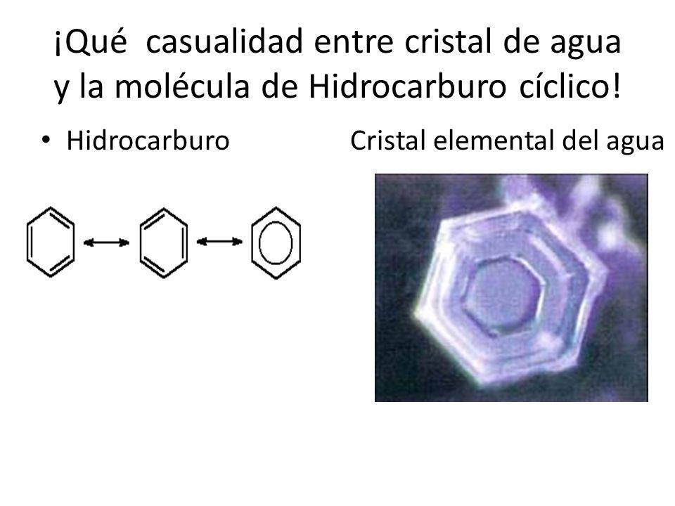 ¡Qué casualidad entre cristal de agua y la molécula de Hidrocarburo cíclico!