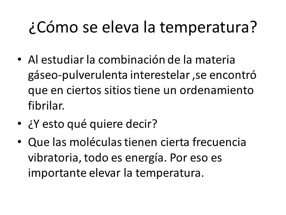 ¿Cómo se eleva la temperatura